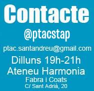 dilluns de 19h a 21h, Carrer de Sant Adrià, 20 (Fabra i Coats) edifici Ateneu Harmonia, taller 18